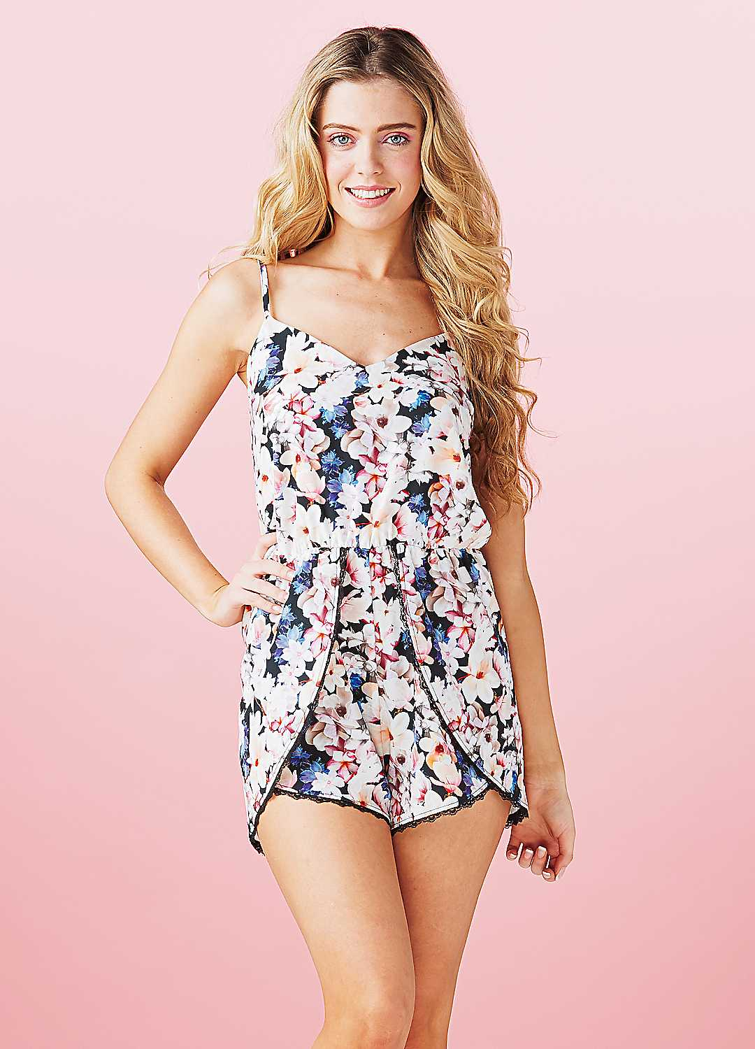 a7292cf62d Michelle-Keegan-Floral-Playsuit-by-Lipsy-74X028FRSP ...